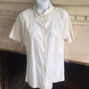 ‼️EUC‼️ GAP Short Sleeve White Button Down Shirt